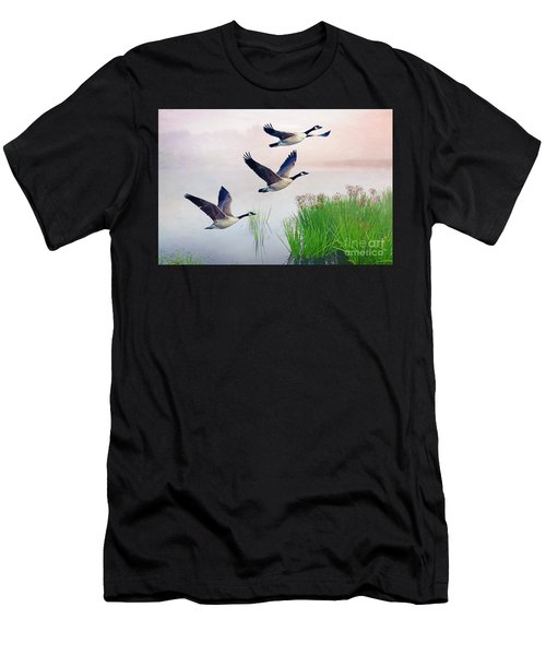 Graceful Geese Men's T-Shirt (Athletic Fit)