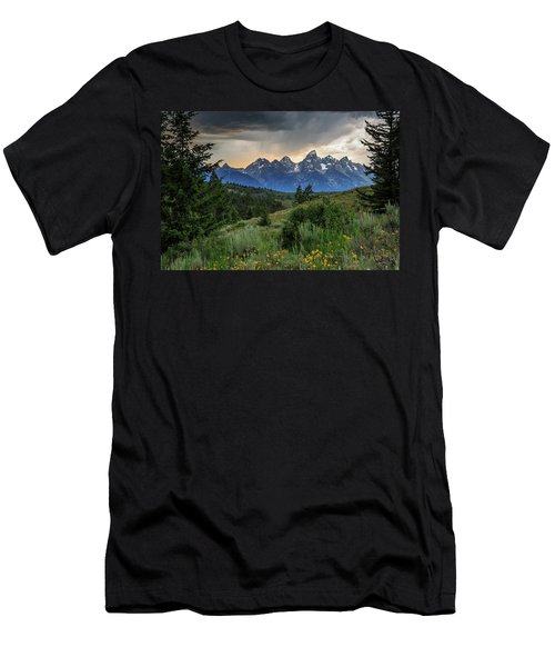 Men's T-Shirt (Athletic Fit) featuring the photograph Grand Stormy Sunset by David Chandler