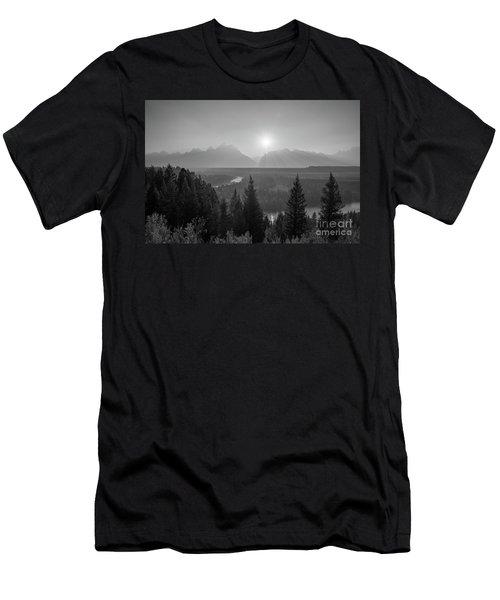 Grand Teton Sunset At Snake River  Men's T-Shirt (Athletic Fit)