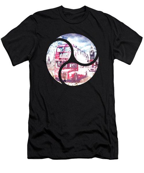 Graphic Art London Westminster Bridge Streetscene Men's T-Shirt (Athletic Fit)