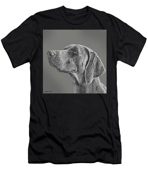 Men's T-Shirt (Athletic Fit) featuring the digital art Gray Ghost by Larry Linton