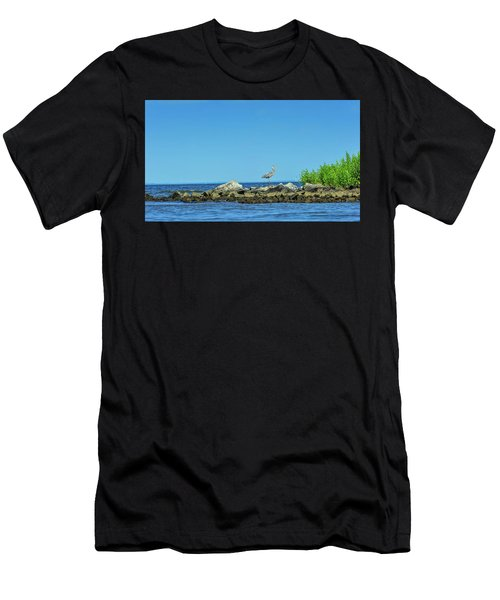 Great Blue Heron On The Chesapeake Bay Men's T-Shirt (Athletic Fit)
