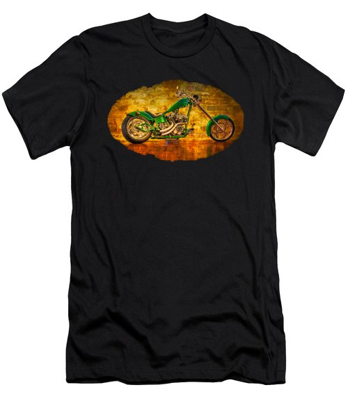Men's T-Shirt (Slim Fit) featuring the photograph Green Chopper by Debra and Dave Vanderlaan