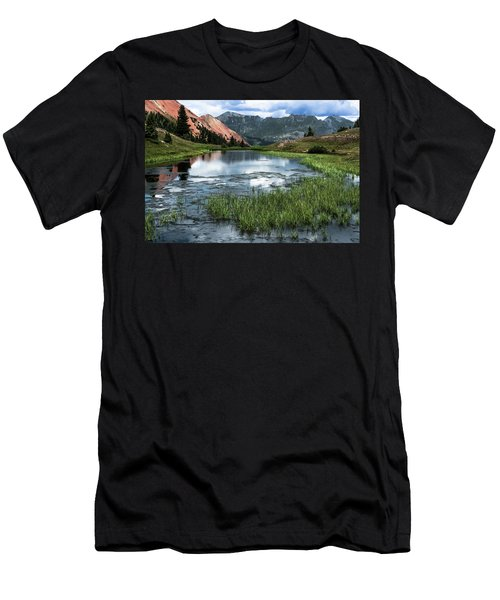 Men's T-Shirt (Slim Fit) featuring the photograph Grey Copper Gulch by Jay Stockhaus