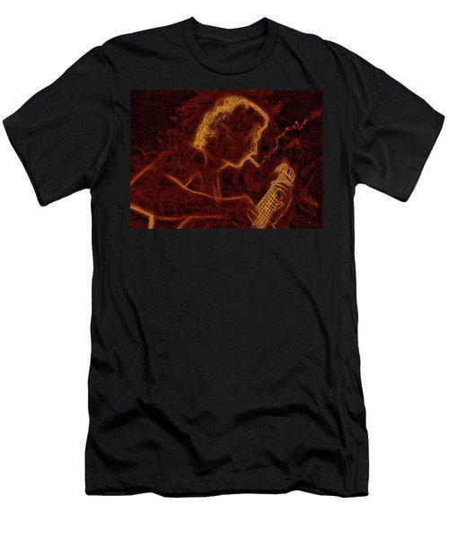 Guitar Player Men's T-Shirt (Athletic Fit)
