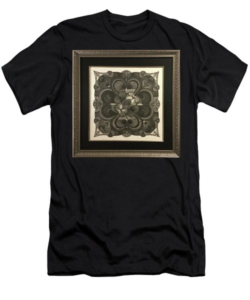 Men's T-Shirt (Athletic Fit) featuring the drawing Heart To Heart by James Lanigan Thompson MFA