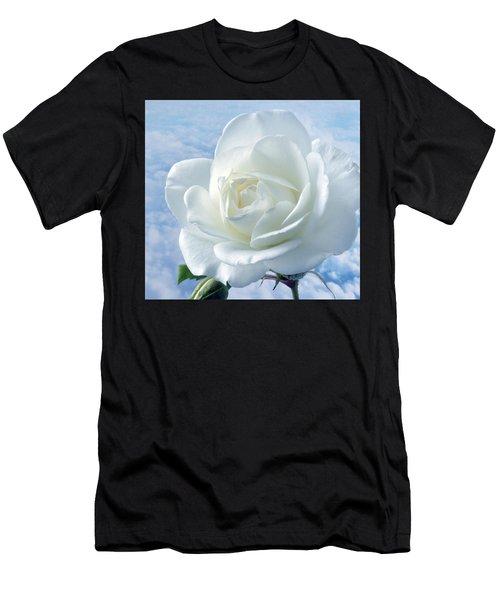 Heavenly White Rose. Men's T-Shirt (Athletic Fit)