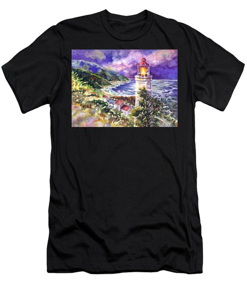 Heceta Head Lighthouse Men's T-Shirt (Athletic Fit)