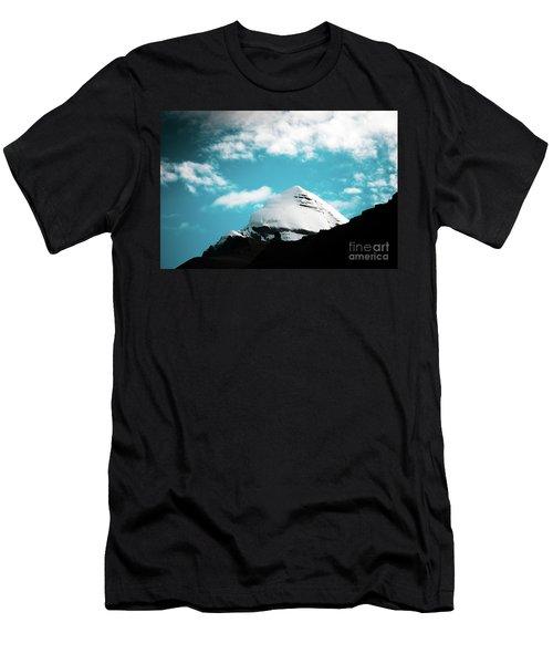 Holy Kailas Himalayas Mountain Tibet Yantra.lv Men's T-Shirt (Athletic Fit)