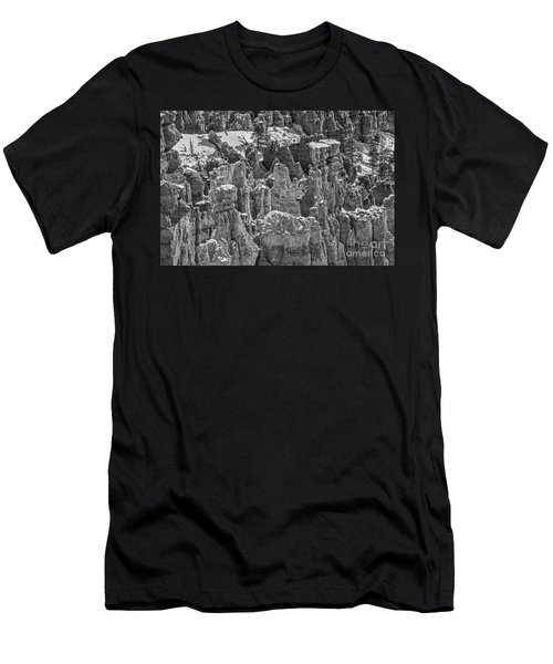 Men's T-Shirt (Athletic Fit) featuring the photograph Hoodoos After A Snowfall by Sue Smith