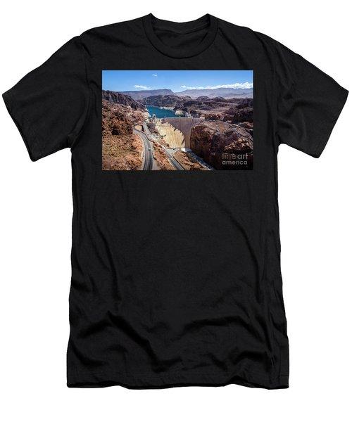 Hoover Dam Men's T-Shirt (Slim Fit) by RicardMN Photography