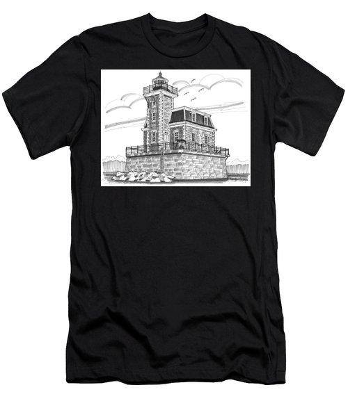 Hudson-athens Lighthouse Men's T-Shirt (Athletic Fit)