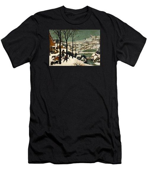 Hunters In The Snow Men's T-Shirt (Slim Fit) by Pieter Bruegel the Elder