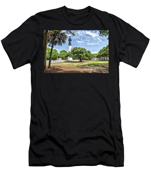 Hunting Island Lighthouse Men's T-Shirt (Athletic Fit)