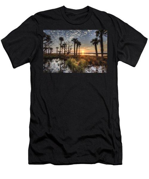 Hunting Island State Park Beach Sunrise Men's T-Shirt (Athletic Fit)