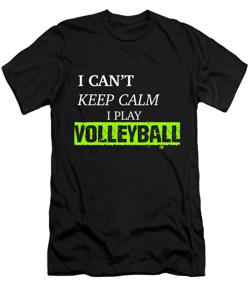 I Play Volleyball Men's T-Shirt (Slim Fit)
