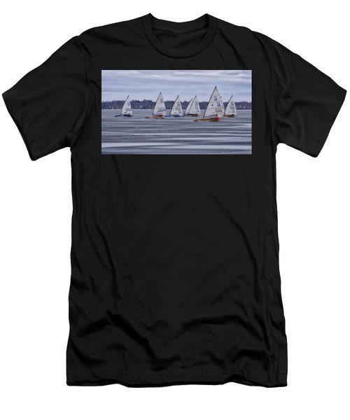 ice sailing - Madison - Wisconsin Men's T-Shirt (Athletic Fit)