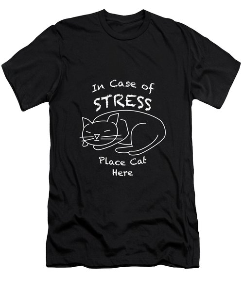 In Case Of Stress, Place Cat Here T-shirt Men's T-Shirt (Athletic Fit)
