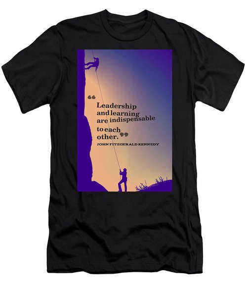 Inspirational Quotes - Leadership - 3 Men's T-Shirt (Athletic Fit)