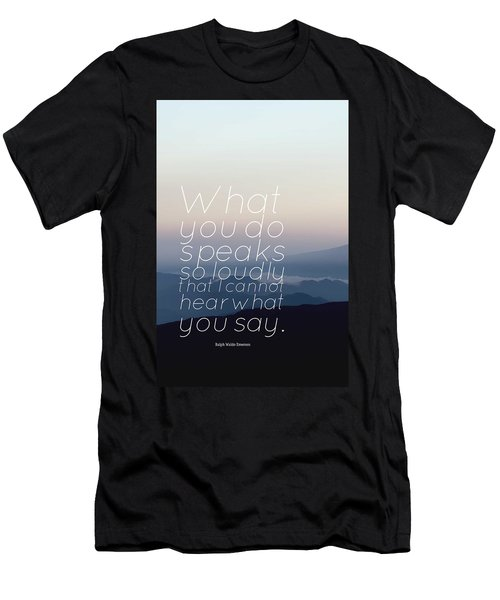 Inspirational Timeless Quotes - Ralph Waldo Emerson 2 Men's T-Shirt (Athletic Fit)