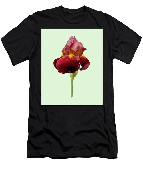 Men's T-Shirt (Athletic Fit) featuring the photograph Iris Vitafire Green Background by Paul Gulliver