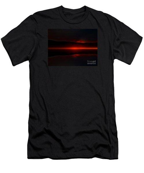 Island Fog Sunrise Men's T-Shirt (Athletic Fit)