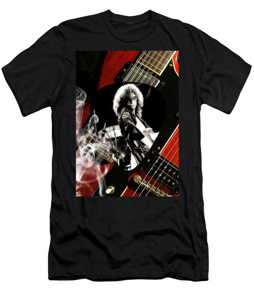 Jimmy Page Art Men's T-Shirt (Athletic Fit)