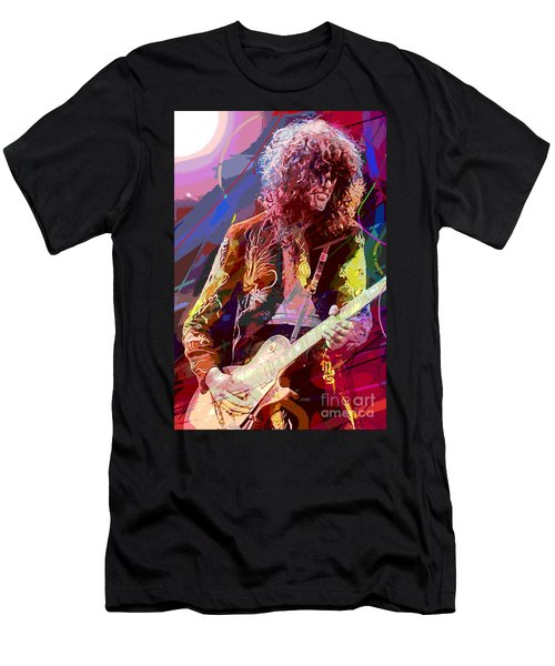 Jimmy Page Les Paul Gibson Men's T-Shirt (Athletic Fit)