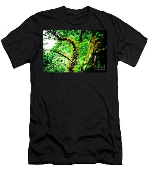 Jungle Annapurna Yatra Himalayas Mountain Nepal Men's T-Shirt (Athletic Fit)