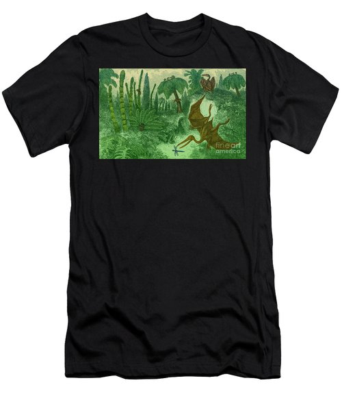 Jurassic Landscape Men's T-Shirt (Athletic Fit)
