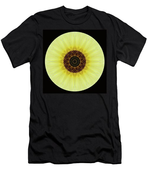 Men's T-Shirt (Athletic Fit) featuring the photograph Kaleidoscope Image Of An Italian Sunflower by Brenda Jacobs