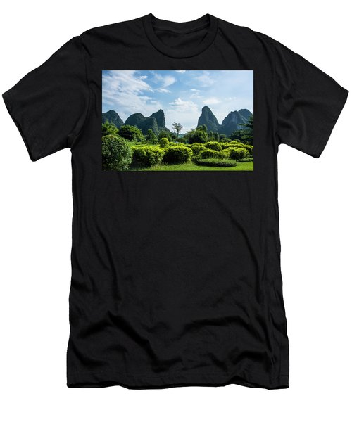 Men's T-Shirt (Athletic Fit) featuring the photograph Karst Mountains Scenery by Carl Ning