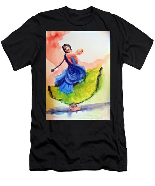 Kathak Dancer Men's T-Shirt (Athletic Fit)
