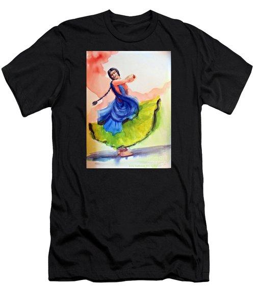Kathak Dancer Men's T-Shirt (Athletic Fit)