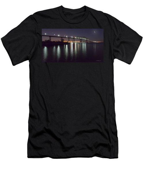 Key Bridge At Night Men's T-Shirt (Athletic Fit)