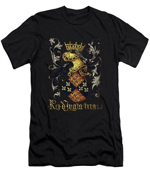 King Of England Coat Of Arms - Livro Do Armeiro-mor Men's T-Shirt (Athletic Fit)