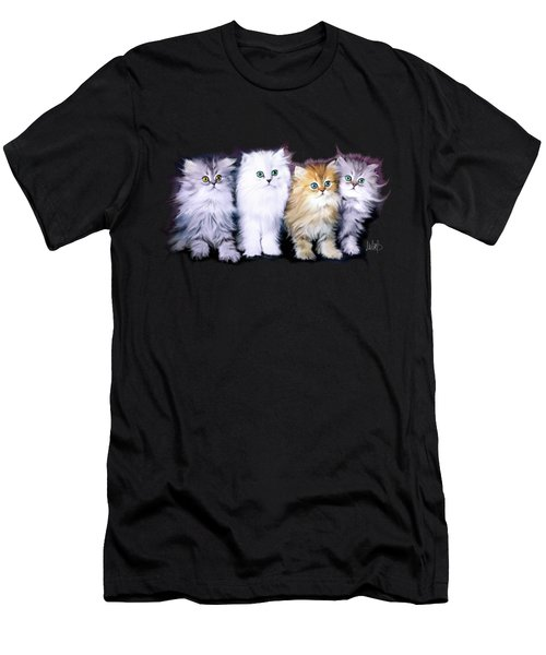 Kitten Family Men's T-Shirt (Athletic Fit)