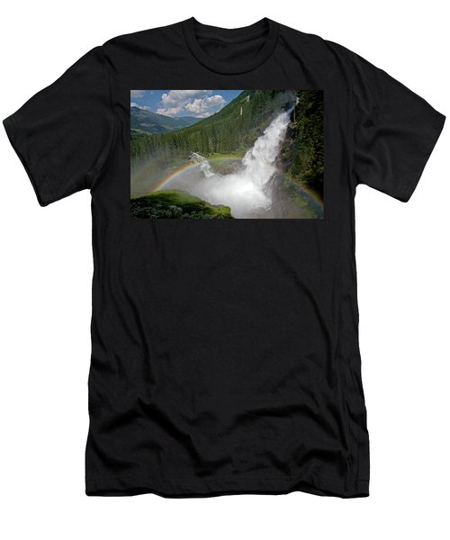 Krimml Waterfall And Rainbow Men's T-Shirt (Athletic Fit)