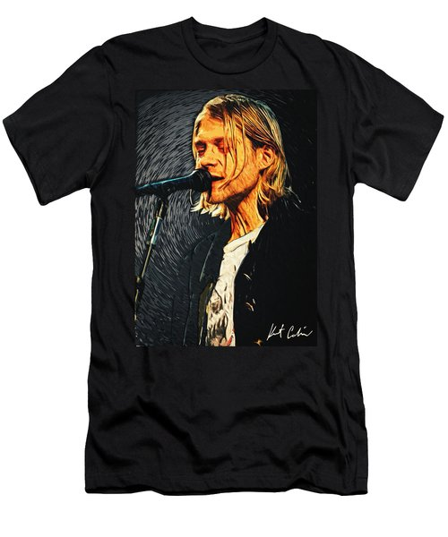 Kurt Cobain Men's T-Shirt (Slim Fit) by Taylan Apukovska