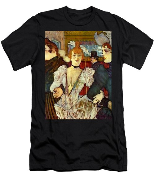 La Goulue Arriving At The Moulin Rouge With Two Women Men's T-Shirt (Athletic Fit)