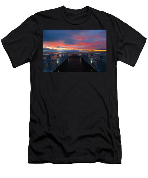 Lake Huron Sunrise Men's T-Shirt (Athletic Fit)