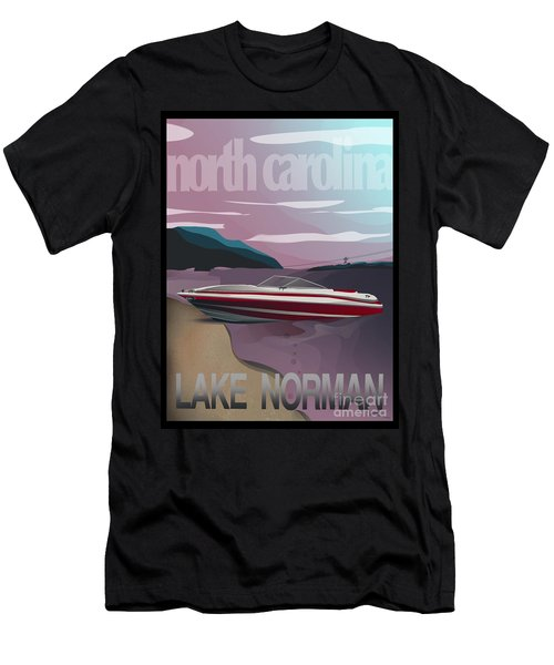 Lake Norman Poster  Men's T-Shirt (Athletic Fit)