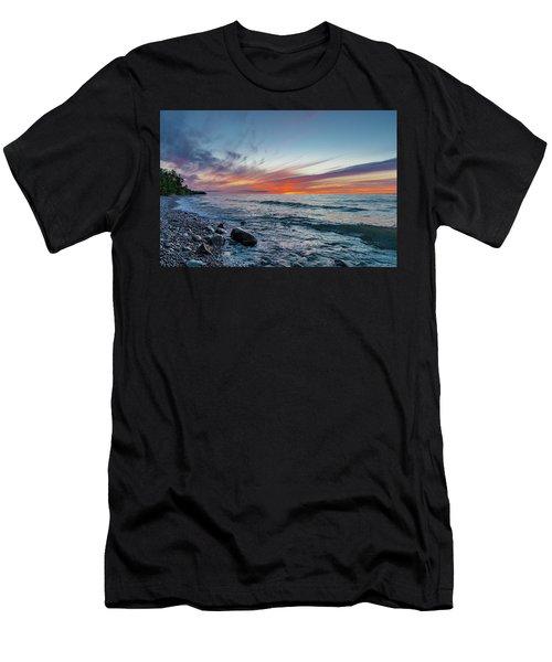 Lake Superior Sunset Men's T-Shirt (Athletic Fit)