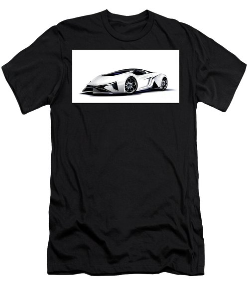 Men's T-Shirt (Athletic Fit) featuring the digital art Lamborghini by Brian Gibbs