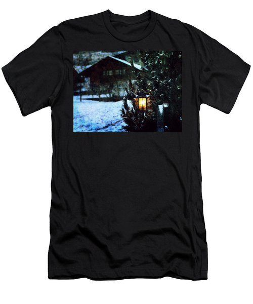 Lantern In The Woods Men's T-Shirt (Athletic Fit)