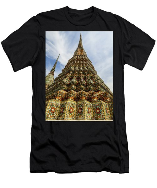 Large Colorful Stupa At Wat Pho Temple Men's T-Shirt (Athletic Fit)