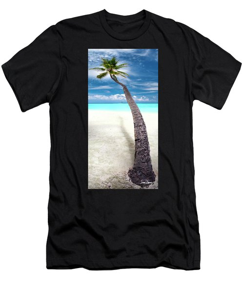 Leaning Palm Men's T-Shirt (Athletic Fit)