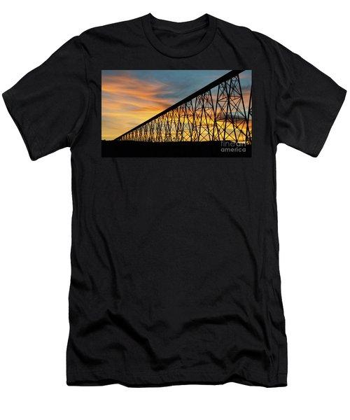 Lethbridge High Level Bridge 3 Men's T-Shirt (Athletic Fit)