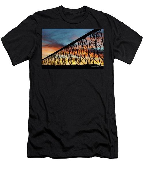 Lethbridge High Level Bridge 4 Men's T-Shirt (Athletic Fit)