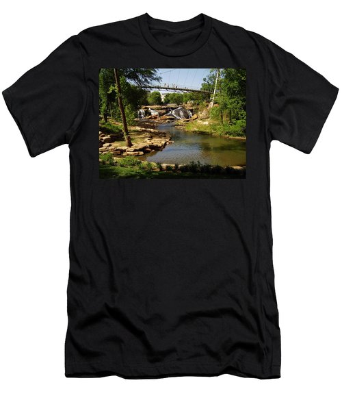 Liberty Bridge Men's T-Shirt (Slim Fit) by Flavia Westerwelle